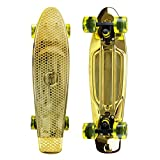 "Mayhem Penny Style Board GOLD 22"" Plastic Cruiser Board Old School Abec 7"
