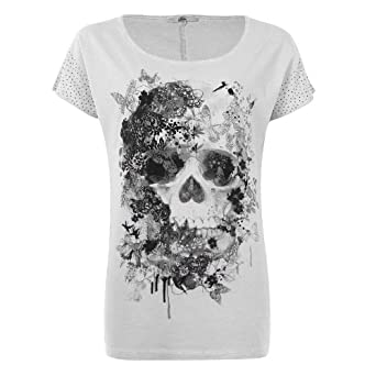 mim t shirt t te de mort femme s rose cl v tements et accessoires. Black Bedroom Furniture Sets. Home Design Ideas