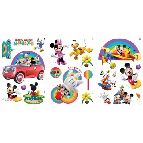 disney wall stickers mickey mouse clubhouse mickey and mickey mouse clubhouse wall decal sticker wall decal at