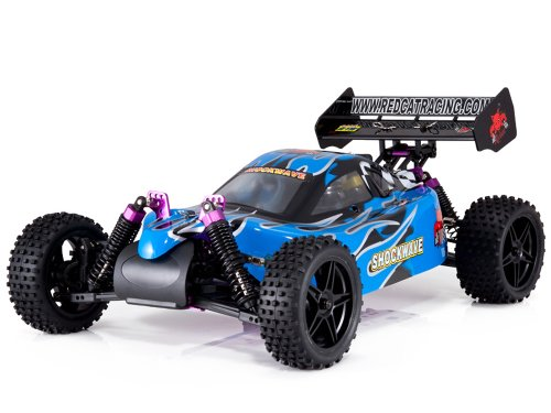 Redcat Racing Shockwave Nitro Buggy, Blue, 1/10 Scale (Rc Gas Powered Trucks compare prices)