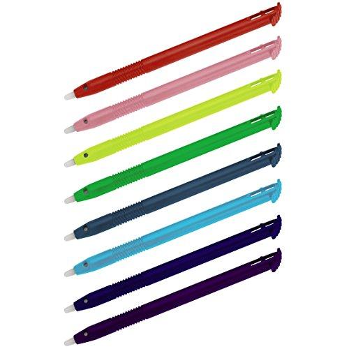 hama-touchscreen-eingabestifte-stylus-pen-fur-nintendo-new-3ds-xl-8-er-set-regenbogenfarben