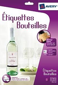 Avery c9269 10 40 etiquettes blanches pour bouteilles - Bureau en gros etiquettes personnalisees ...