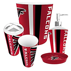 atlanta falcons 5 bathroom set sports