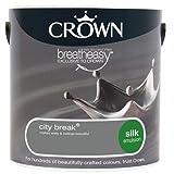Crown Breatheasy Paint - City Break (Grey) - Silk Emulsion - 2.5L