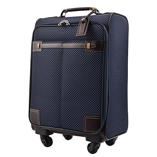 キャリーケース ピジョール ユーゴTR スーツケース TSA南京錠 機内持ち込み PUJOLS ソフトタイプ 4輪 25L 1日 2日用 46cm 45668 (ネイビー)