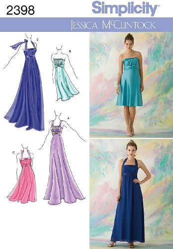 simplicity-jessica-mcclintock-pattern-2398-misses-special-occasion-dresses-each-in-two-lengths-sizes