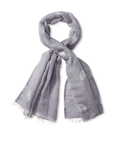 Saachi Women's Hearts Scarf, Silver Grey
