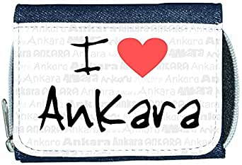 Amazon.com: I Love Heart Ankara Denim Wallet: Clothing