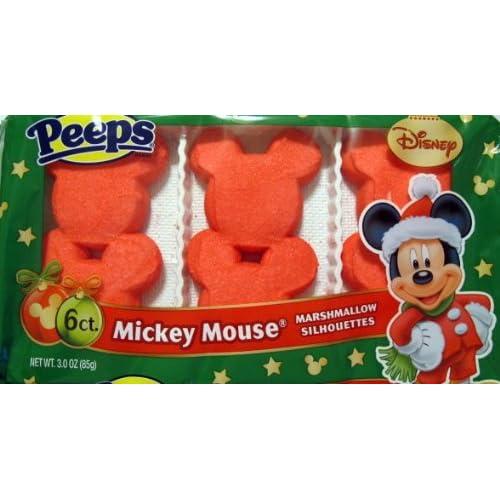 Amazon.com : Disney Mickey Mouse Marshmallow Silhouettes Peeps6 ct