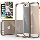 Caseology Apple iPhone 5/5S [Premium Fusion Series] - Slim Fit Hybrid Scratch-Resistant Clear back thin Cover with Shock Absorbent TPU Protector Bumper Case (Almond Beige) [Made in Korea] (for Verizon, AT&T Sprint, T-mobile, Unlocked)