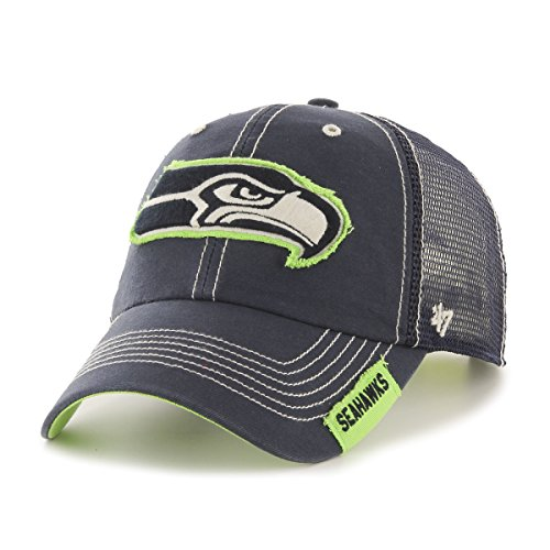 NFL-Seattle-Seahawks-47-Turner-Clean-Up-Mesh-Adjustable-Hat-One-Size-Fits-Most-Navy