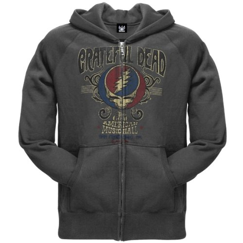 Old Glory Mens Grateful Dead - American Music Hall Zip Hoodie - Medium Grey