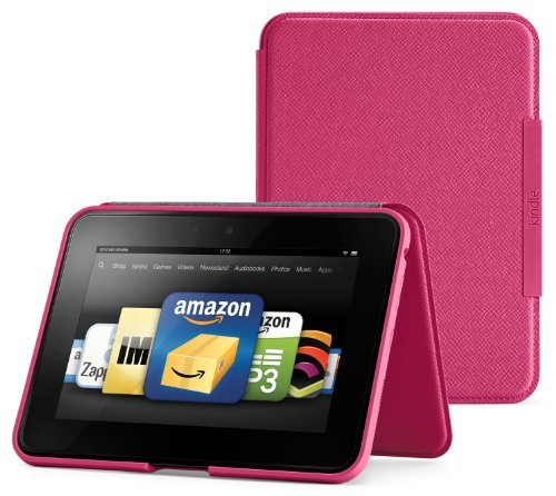 Amazon Kindle Fire HD Standing Leather Cover, Fuchsia (will only fit Kindle Fire HD)