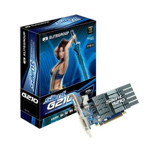 ECS nVidia GeForce GT210 Silent 512 MB DDR3 VGA/DVI/HDMI Low Profile PCI-Express Video Card