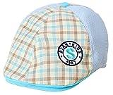 (トヨベイ)Toyobuy 子供用 可愛い ベレー帽 キャスケット ハンチング帽 男の子 女の子 つぼ短い キャップ 通学 お出かけ 日よけ チェック柄(ブルーB)