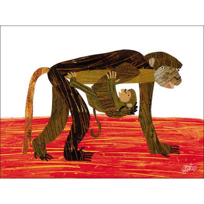 "Oopsy Daisy NI2610 Eric Carle's Monkey Mother Canvas Wall Art, 24"" by 18"" - 1"