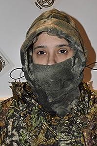 Acide ® tactique temps froid, Passe-montagne polaire Camouflage intégral pour Airsoft Masque Ninja pour capuche homme Motif Dead pierre de Camouflage