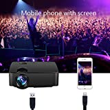 Uvistar E08 Neu Mini Beamer Portable Projektor LCD LED HD 1080P HDMI