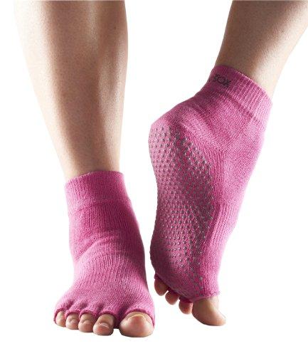 ToeSox Women's Ankle Half Toe Grip Non-Slip for Yoga, Pilates, Barre, Ballet Toe Socks