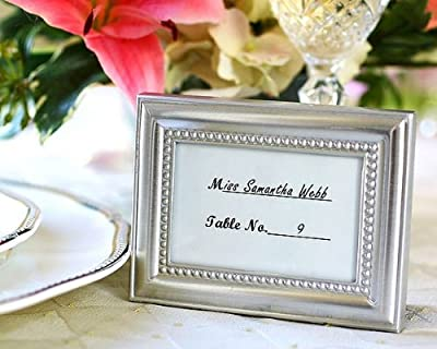 """Beautifully Beaded"" Silver Photo Frame/Placeholder ""As seen in the hit movie 27 Dresses"""
