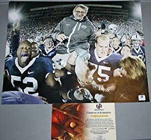 Signed Joe Paterno Photo - with 400 Inscription - Autographed College Photos by Sports+Memorabilia