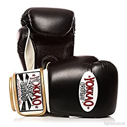 Yokkao Black Leather Boxing Gloves