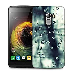 Snoogg Grey Water Drops Designer Protective Phone Back Case Cover For Lenovo Vibe K4 Note