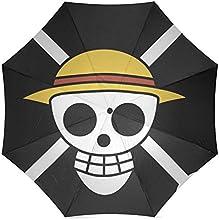 Japan Anime One Piece Auto Foldable Rain Umbrella Wind Resistant Windproof Floding Travel Umbrella