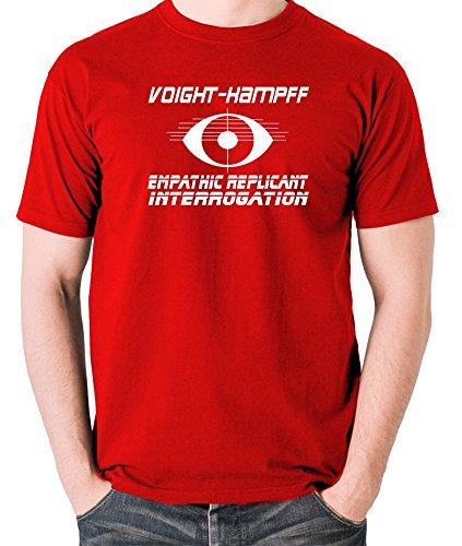 Blade Runner-Voight-Kampff, Empathic Replicant interrogatorio T Shirt Red Large