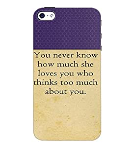 PrintDhaba Quote D-2645 Back Case Cover for APPLE IPHONE 5 (Multi-Coloured)