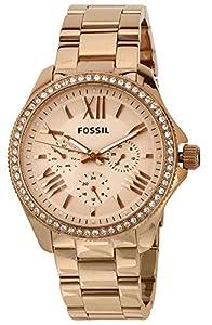 Fossil - AM4483 - Montre Femme - Quartz Analogique - Aiguilles lumineuses - Bracelet Acier Inoxydable Plaqué Rose