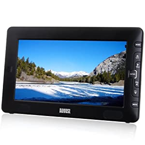"""August DTV905 - 9"""" Portable Freeview TV - Small Screen LCD Television with Multimedia Player - Digital TV for Bedroom, Kitchen, Caravan... - Battery (Internal) or Mains Powered"""