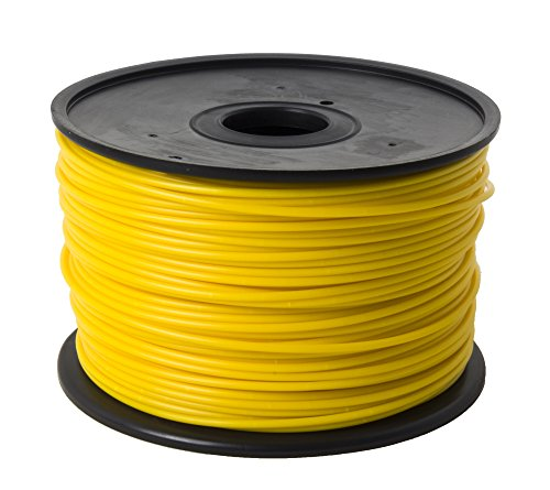 Jet- PLA (3mm, Yellow color, 1.0kg =2.205 lbs) Filament on Spool for 3D Printer MakerBot, RepRap, MakerGear, Ultimaker, and UP!