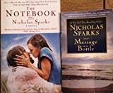 img - for SET OF 2 NICHOLAS SPARKS NOVELS! The Notebook & Message in a Bottle book / textbook / text book