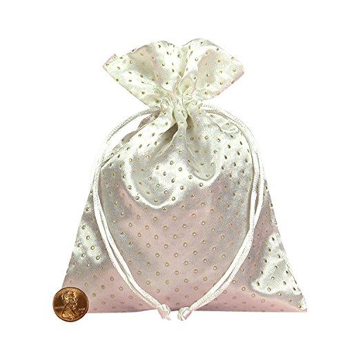 "Tarot Bags: White 6"" X 9"" Satin Pearl - 1"