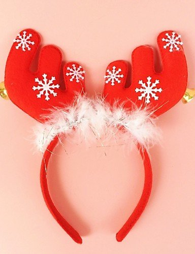 Ch&Ch Christmas Party Cute Deer Antlers Hat Hair Head Band with Bell