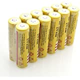 12 Pack of 3.7V 5000mAH 18650 Rechargeable Li-ion Battery Yellow