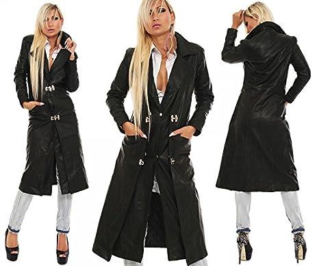 Ledermantel echt Leder Mantel Rindsleder Premium Qualität schwarz alle Größen