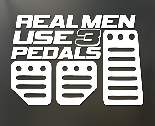 1 Set Impassioned Modern Real Men Use 3 Pedals Car Sticker Truck Window Funny Decal Vinyl Decor Colors White (Real Tree Car Window Decal compare prices)