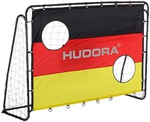 Hudora - 76999 - Jeu de Plein Air et Sport - But de Football avec Cibles - 213 x 152 cm - 25 mm Diamètre du Tube