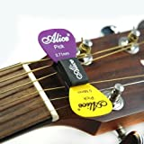 Alice Rubber Plectrum/pick Holder Case for Acoustic or Classical Guitar. Fits in the Neck Strings. Never Lose Your Pick Again.