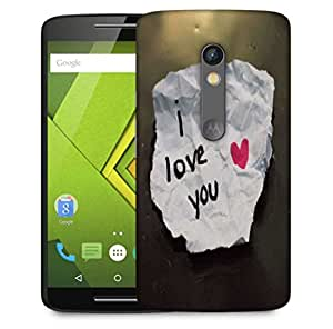 Snoogg I Love You Designer Protective Phone Back Case Cover For Motorola Moto X Play