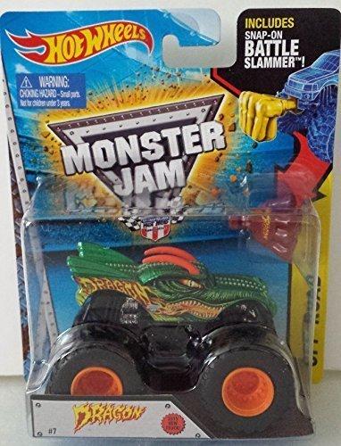 Hot Wheels Dragon Monster Jam New 2015 Truck 1:64 Battle Slammer #7