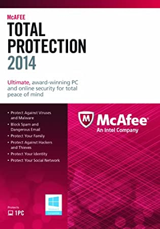 McAfee Total Protection 2014 - 1 User (PC)