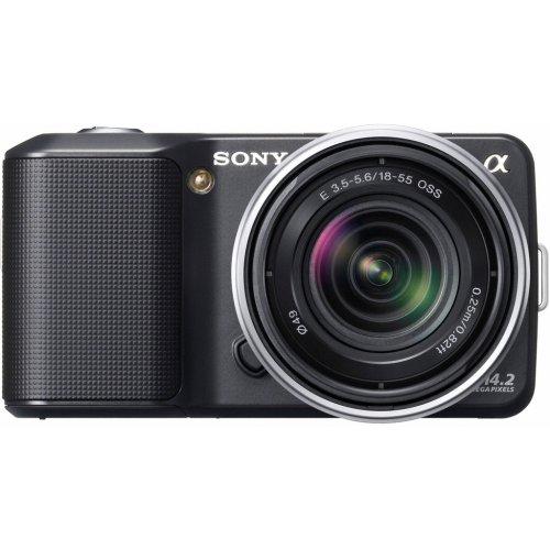 Sony NEX3KB Alpha Compact System Camera -18-55mm F3.5-5.6 OSS Lens - Black