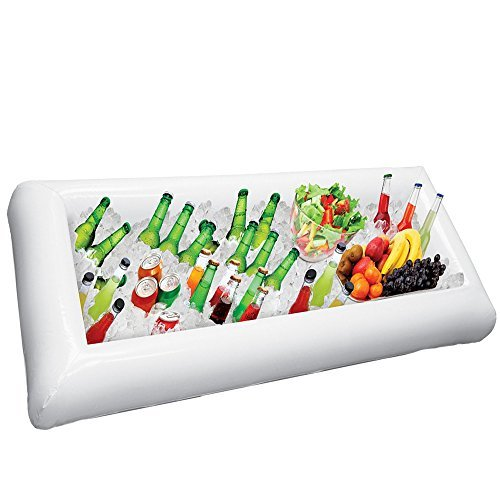 Inflatable Serving Bar, Buffet Salad Food & Drink Tray, Party Food Cooler with Drain Plug for Picnic & Camping, By Chuzy Chef (Drink Cooler Portable compare prices)