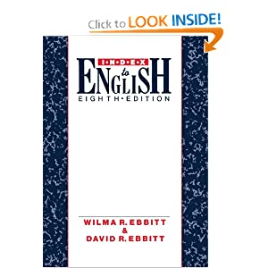 Writer's Guide and Index to English Wilma R. And Ebbitt, David R. Ebbitt