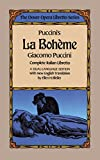 Puccini's La Boheme (Dover Opera Libretto Series) (English and Italian Edition) (0486246078) by Puccini, Giacomo