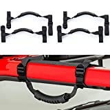 TCHIPIE Roll Bar Grab Handles 4 Pack Jeep Rollbar Handles Front Rear Non Slip Hand Grip for 2-3 Inch Roll Cage Adjustable Straps Fit Jeep Wrangler JL JK TJ Unlimited Sport Sahara Rubicon (Pack of 4)