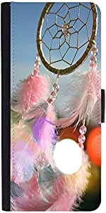 Snoogg Dream Catcher Real Graphic Snap On Hard Back Leather + Pc Flip Cover S...